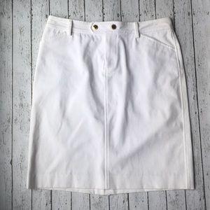 Lauren Ralph Lauren White Mini Skirt